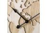 Reloj de pared de madera marrón rústico para salón Bretaña