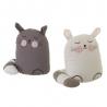 Set 2 sujetapuertas de gato de tela / arena gris infantil para dormitorio Child