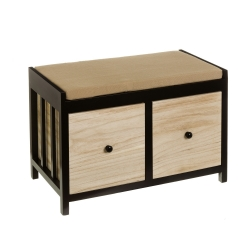 Banqueta pie de cama de madera natural negra moderna para dormitorio Factory