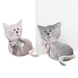 Set 2 sujetapuertas de gato gris de tela / arena moderno para dormitorio Fantasy