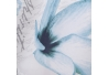 Cortina zen azul de poliéster oriental para cuarto de baño de 180 x 200 cm Sol Naciente