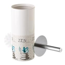 Escobilla zen de cerámica azul oriental para cuarto de baño Sol Naciente