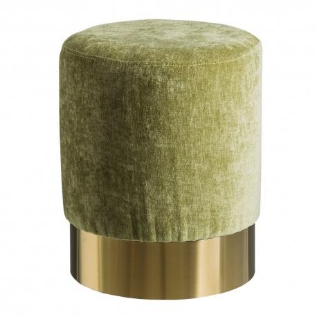 Puff tapizado de terciopelo verde moderno para sal n breta a - Escabeles tapizados ...