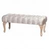 Banqueta pie de cama romántica plateada de madera para dormitorio France