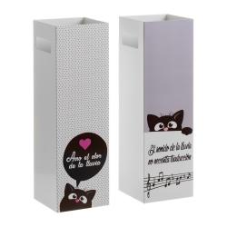 Pack 2 Paraguero metal gatitos con frases romantica
