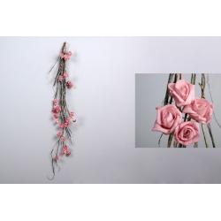 Enredadera de flores rosas, muy elegantes y orginales.