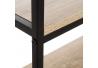 Estantería de acero negra con 4 baldas de madera