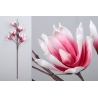 Rama con flores foam en tonos rosa 105 cm