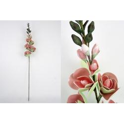 Rama con flores foam en tonos naranja 126 cm