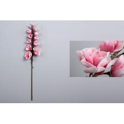 Rama con flores foam en tonos rosa 95 cm