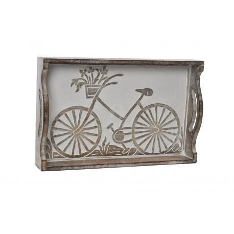 Bandeja de madera bicicleta