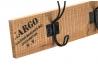Perchero de pared vintage de madera 3 colgadores
