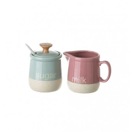 """Azucarero Y jarra tendence """"stoneware"""" color pastel"""