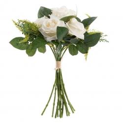 Rama con flores rosas blanco 31x35 cm