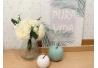 Rama con flores rosas blanco 18x18x26 cm