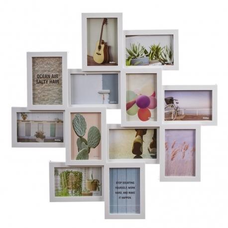 Portafotos plastico multiple blanco 12 Fotos 61x61 cm