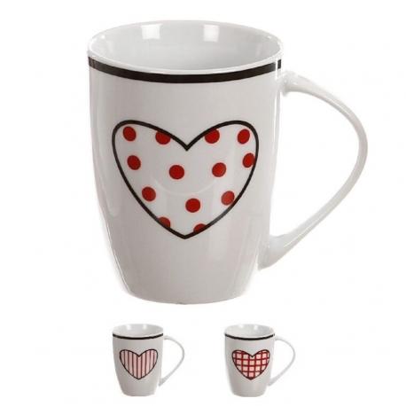 Tazas original diseño corazon romantico (Set de 4 mug ) 300cc