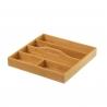 Cubertero de mesa nórdico marrón de bambú para cocina Sol Naciente