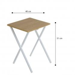 Mesita auxiliar plegable nordico de madera