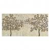 Mural Árbol de la Vida con espejo beige romántico para salón Sol Naciente