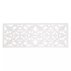 Mural de madera natural cabecero blanco provenzal para dormitorio Vitta