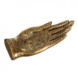 bandeja mano oro poliresina de decoracion