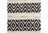 Alfombra pasillera de algodón beige étnica para decoración de 70 x 170 cm Vitta