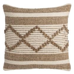 Cojín trenzado de algodón marrón 45x45 étnico para salón Arabia