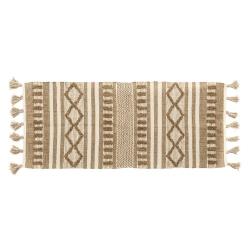Alfombra pasillera de algodón natural marrón étnica para decoración de 70 x 170 cm Arabia