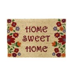 Felpudo Sweet Home de coco floral 60 x 40 cm
