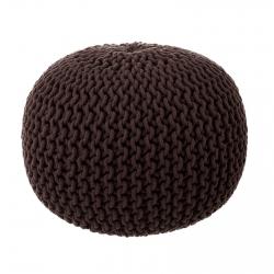 Puff trenzado de algodón marrón nórdico para salón Bretaña