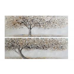 Set 2 cuadro lienzo arbol rilieve