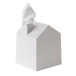 Caja pañuelos casa blanco de polipropileno moldeado
