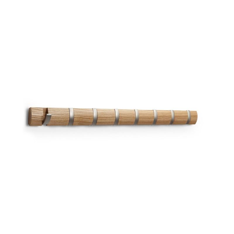 Percha de pared madera natural for Gancho adhesivo pared