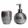 Accesorios de baño orientales plateados de cerámica para cuarto de baño Arabia