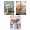 Set 3 cuadro lienzo flores 30x40 cm