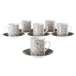 Tazas de café de porcelana grises clásicas para salón Factory