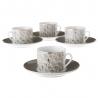 Tazas de cafe de porcelana grises clásicas para salón Factory
