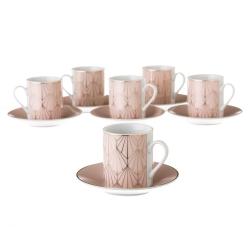 Tazas de café de porcelana rosas clásicas para salón France
