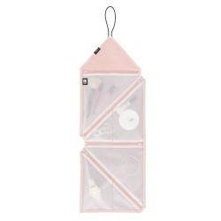 Bolsa de aseo con estuche para cosméticos, color rosa