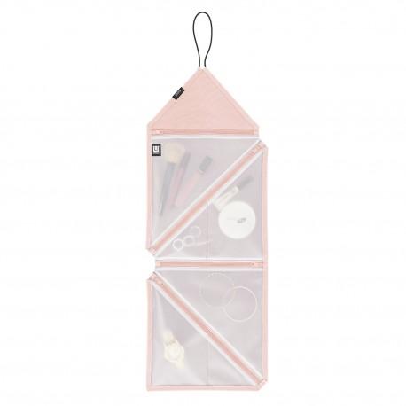 Organizador de viaje, color rosa y gris