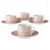 Tazas de cafe de porcelana rosas clásicas para salón Factory