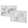 Pack 2 Pizarra mapa del mundo con rotulador + imanes 40x60 cm