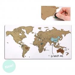 Pizarra magnetica rascar mapa con marcador