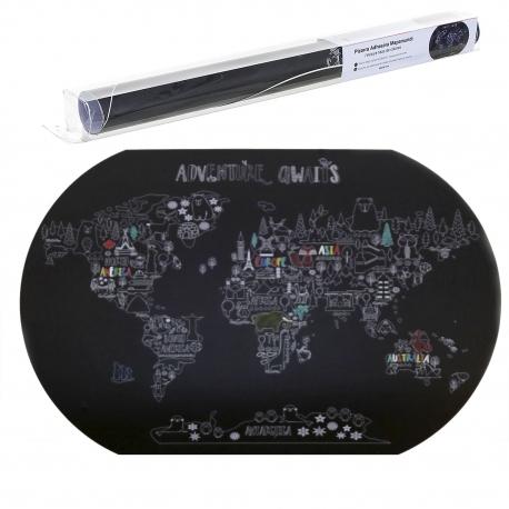 Pizarra adhesiva mapamundi 60x90 cm