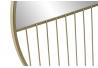 Espejo metal de pared dorado 37 cm