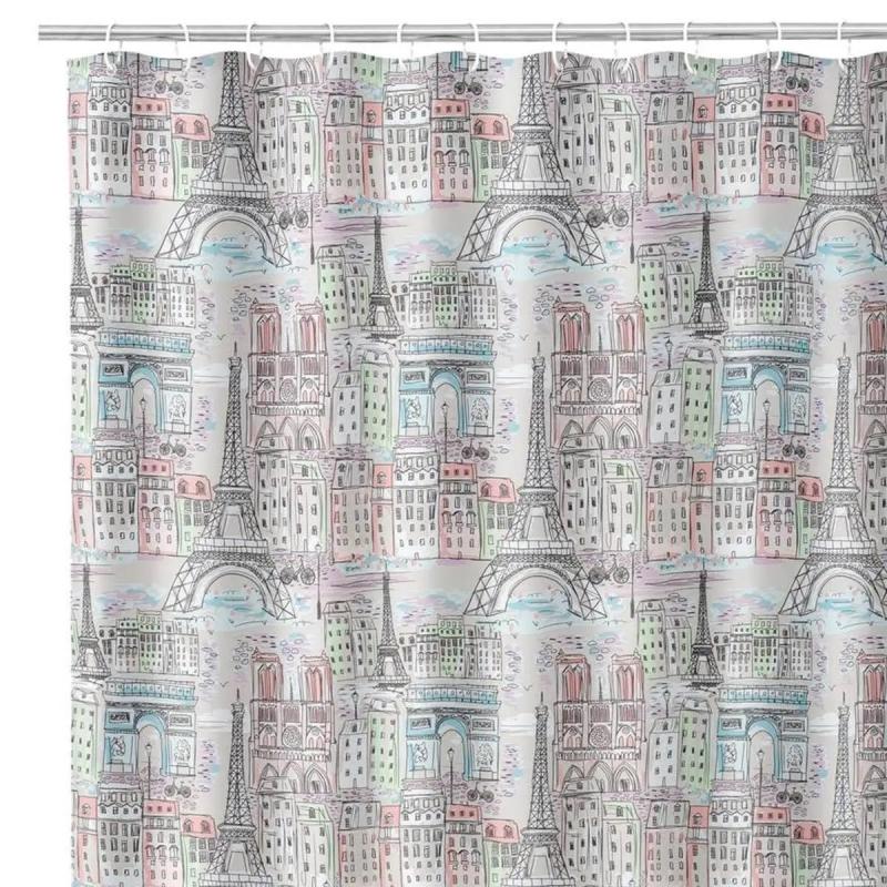 Cortina para cuarto de baño paris de 180 x 200 cm| Dcasa.es