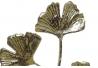 Perchero de pared metal hojas dorado