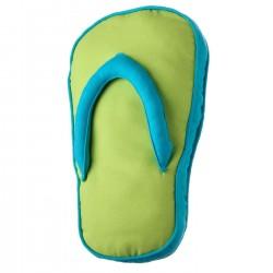 """Cojín original """"sandal"""" verde con relleno 200 gramos fibra hueca de poliéster. 28 x 45 x 4 cmazul"""