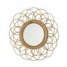 Espejo rattan natural moderno para salón de 50 cm